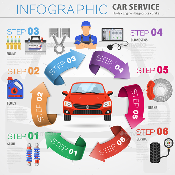 Car Service Infographics By TAlex
