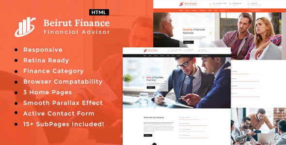 Beirut : Finance HTML Template