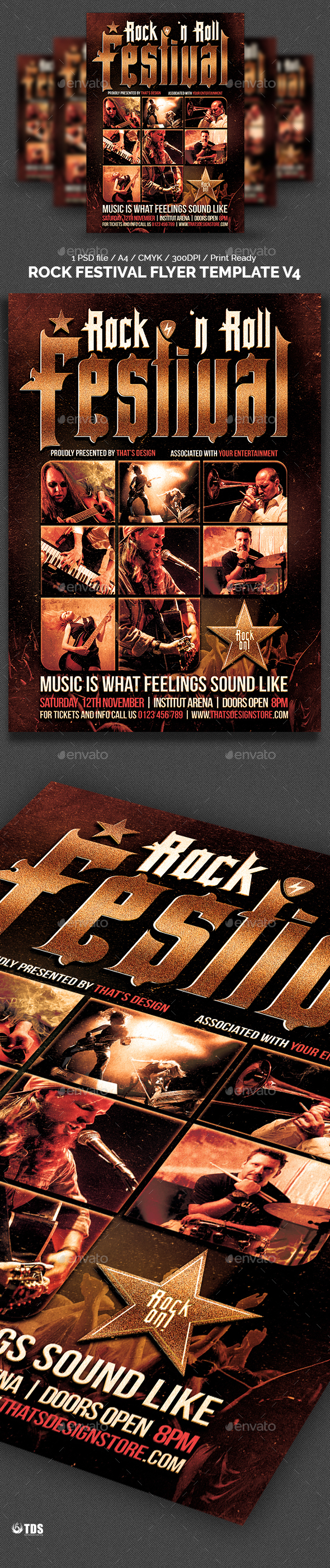 Rock Festival Flyer Template V4 - Concerts Events