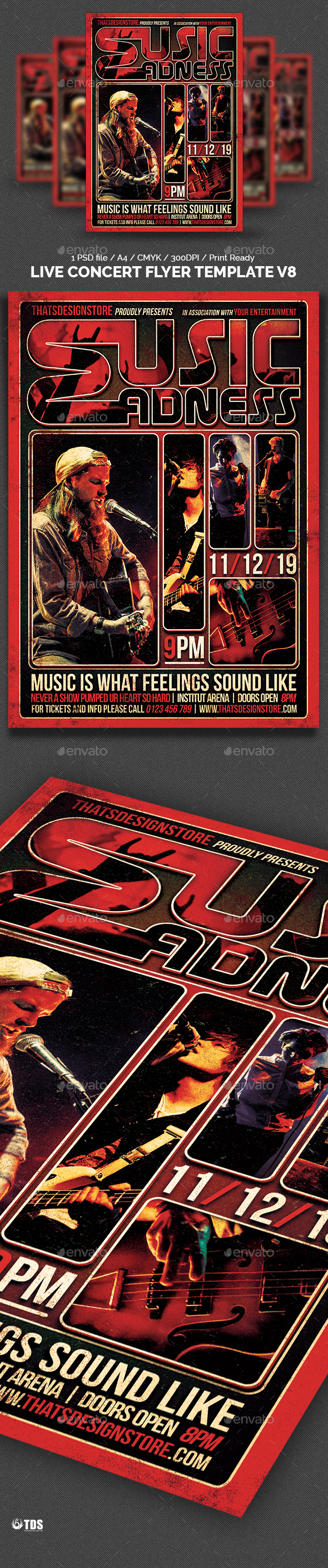 Live Concert Flyer Template V8 - Concerts Events