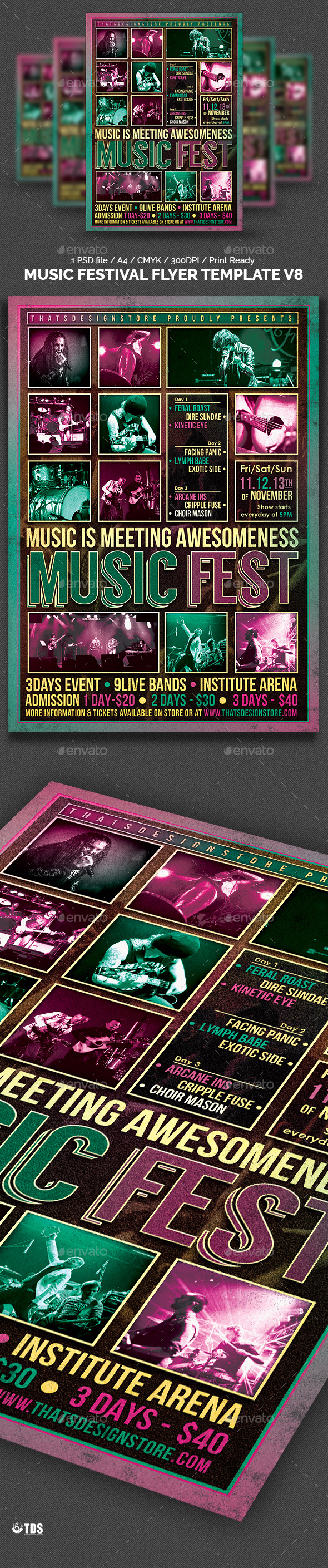 Music Festival Flyer Template V8