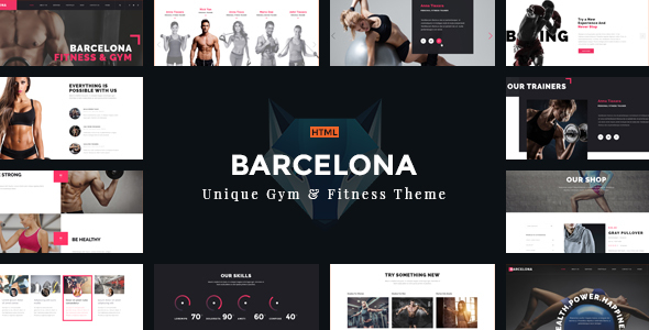 Barcelona – Theme for Fitness Gym and Fitness Centers