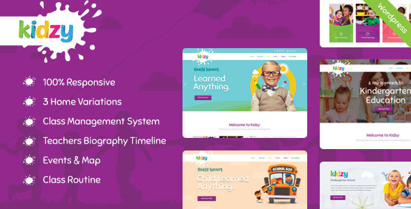 KIDZY – Responsive Kindergarten & Preschool WordPress Theme