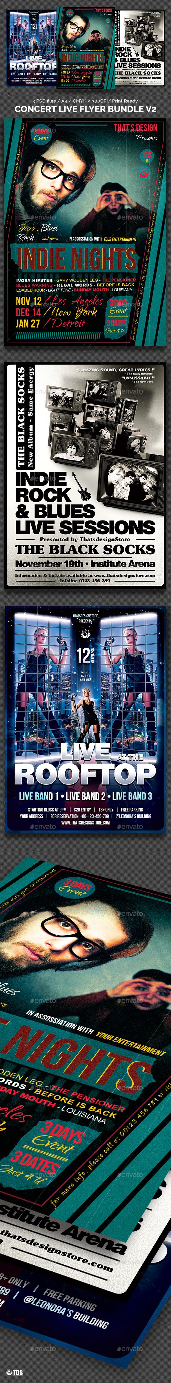 Concert Live Flyer Bundle V2 - Concerts Events