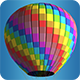 Low Poly Model 09 Car Air Ballon