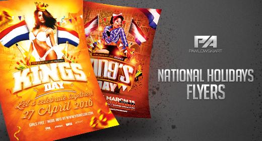 National Holidays Flyer Templates