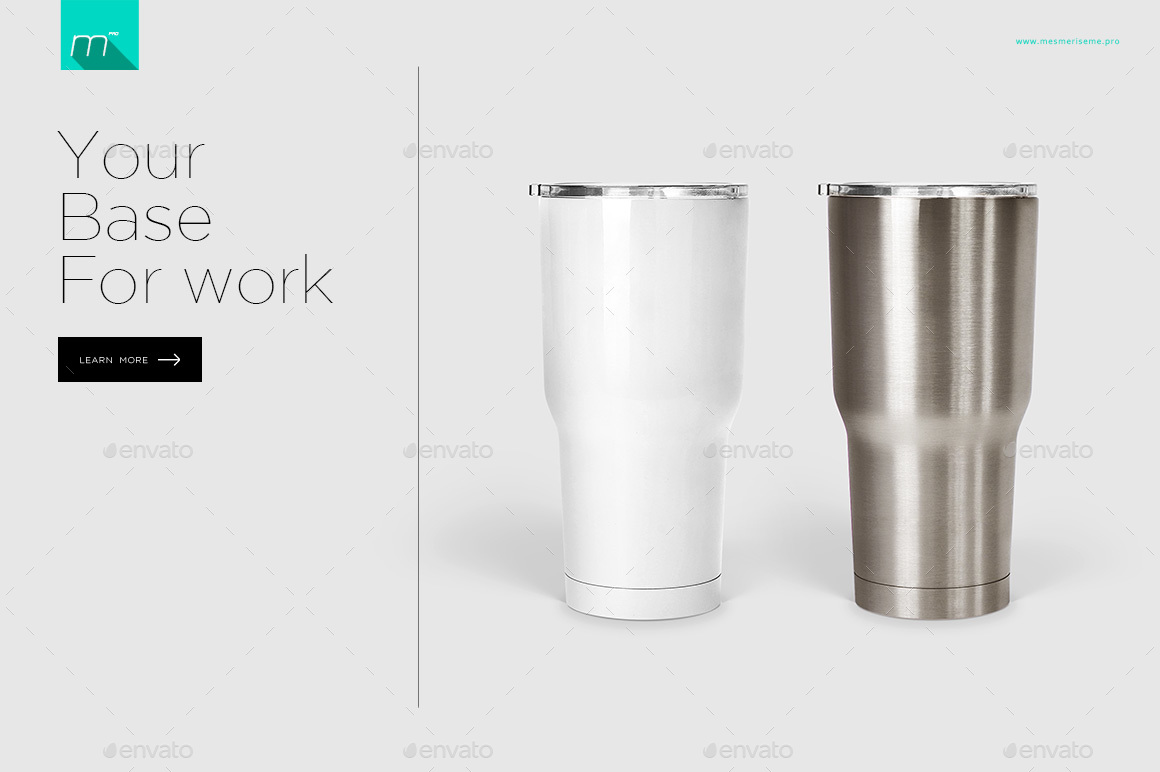 30 Oz Stainless Tumbler Mock Up By Mesmeriseme Pro