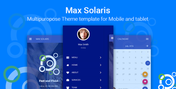 Max Solaris | Responsive Tablet and Mobile HTML template - Mobile Site Templates