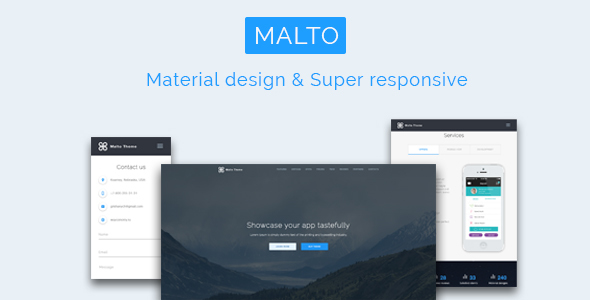 Malto – Material design App Showcase Template