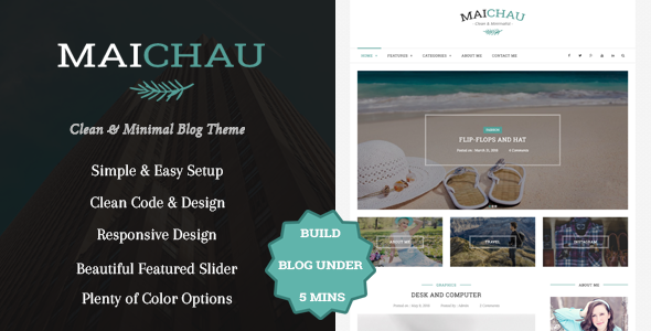 Maichau – Clean & Minimal WordPress Blog Theme