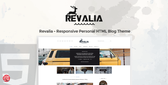 Revalia -  A Responsive Personal HTML Blog Template - Personal Site Templates