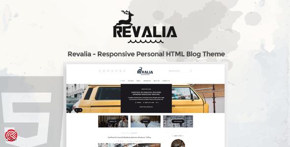 Revalia -  A Responsive Personal HTML Blog Template