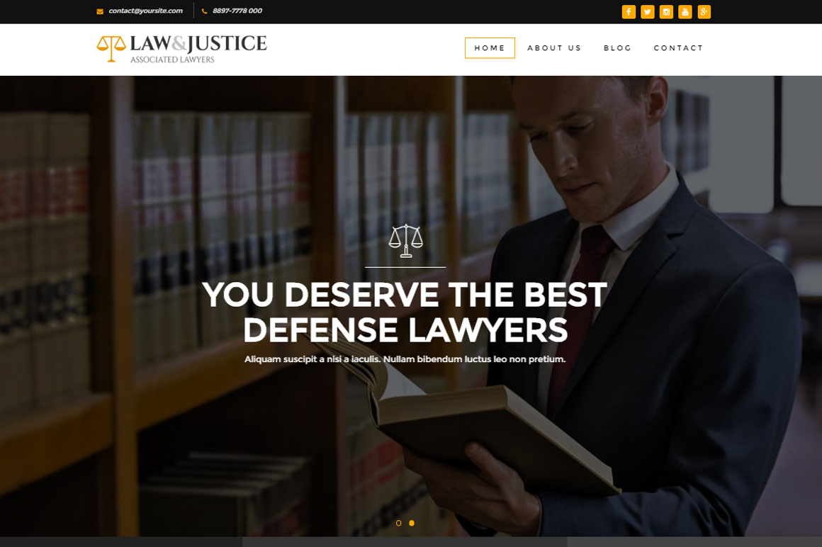 Law&Justice: Attorney Lawyer HTML5 Template by _themebear | ThemeForest