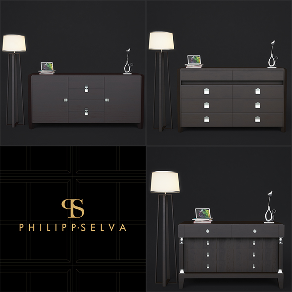 Chests of drawers Philipp - 3DOcean Item for Sale