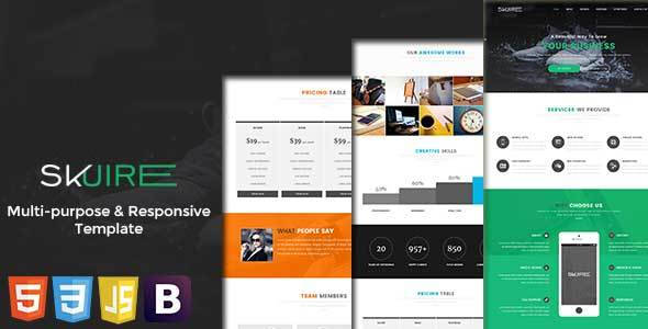 Skuire – Responsive & Multi-Purpose HTML5 Template