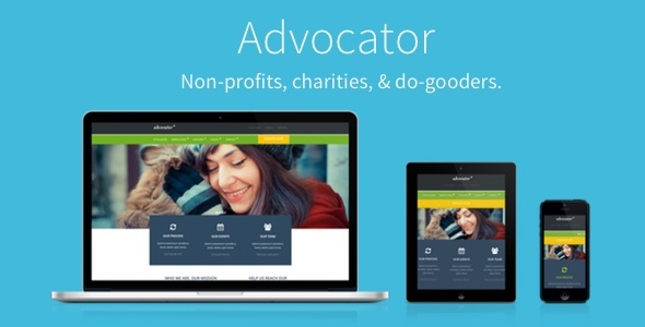 Image of Advocator: Nonprofit & Charity Responsive WordPress Theme