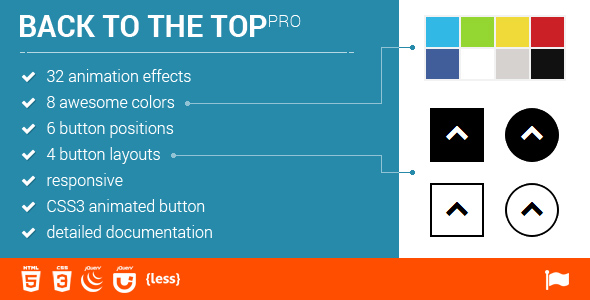 Scroll to Top - 32 Animations - CodeCanyon Item for Sale
