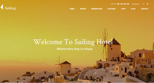 Awesome Hotel WordPress Theme 2016
