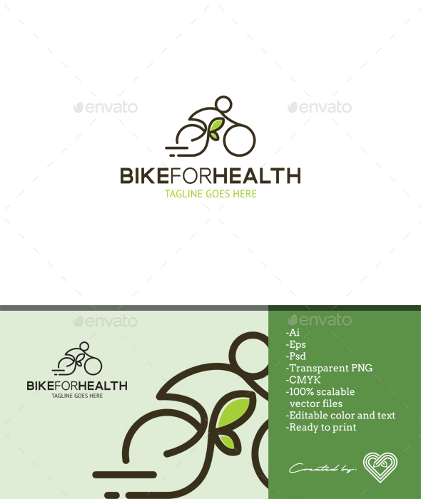 Bike for Health - Objects Logo Templates