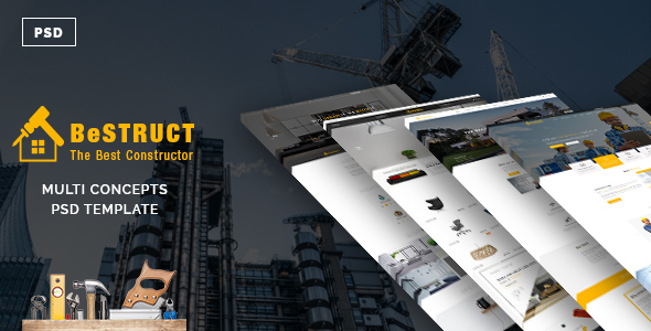 BeStruct - Multiconcept Construction PSD Template - Business Corporate