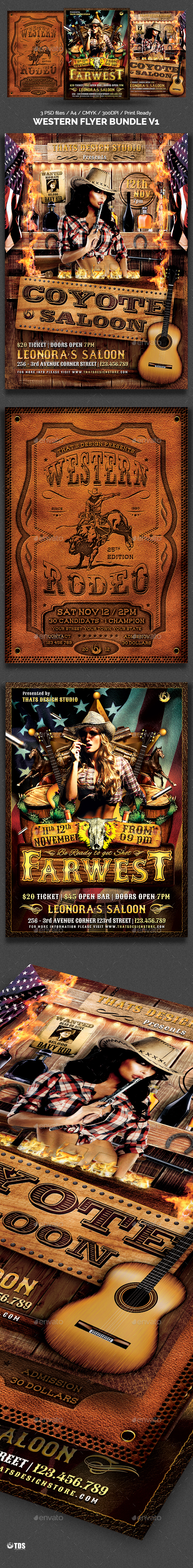 Western Flyer Bundle - Events Flyers