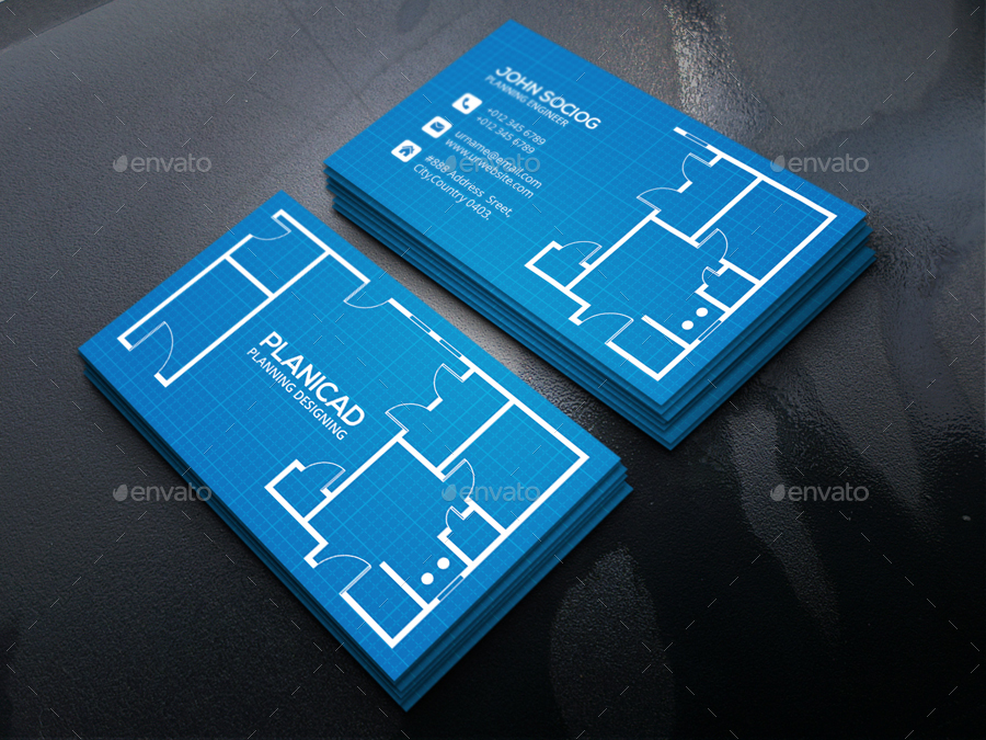 Architecture Business Card by -axnorpix | GraphicRiver
