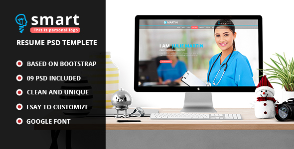 Smart – Personal Profile PSD Template