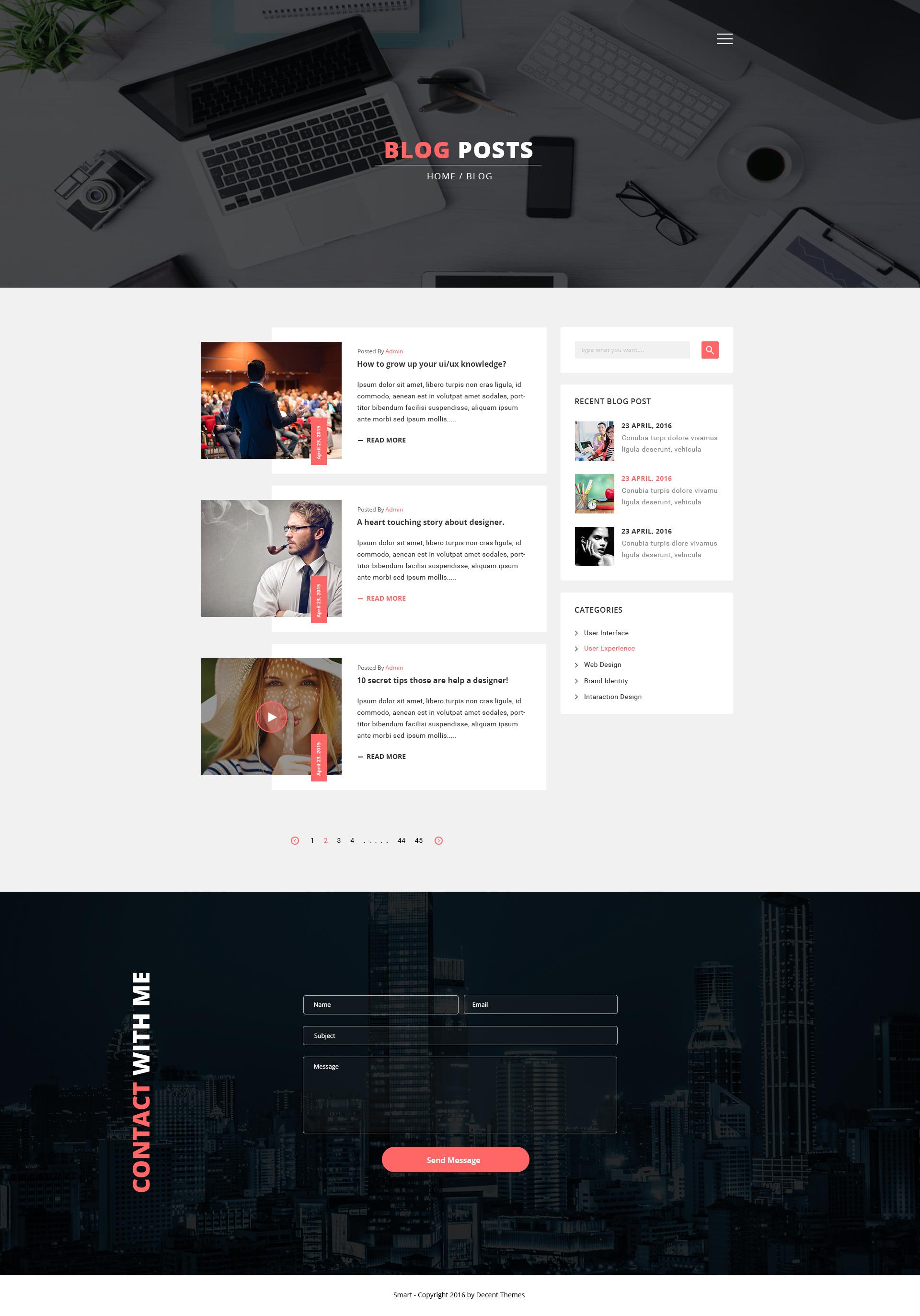 Smart Personal Profile Psd Template