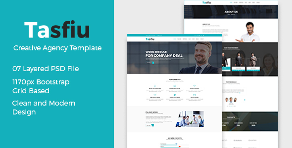 Tasfiu – Corporate PSD Template