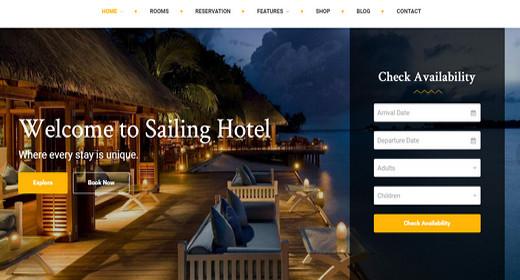 Amazing WordPress Theme Hotel
