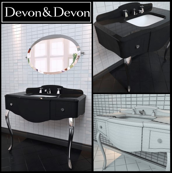 Washbasin Devon and Devon console Miami  - 3DOcean Item for Sale