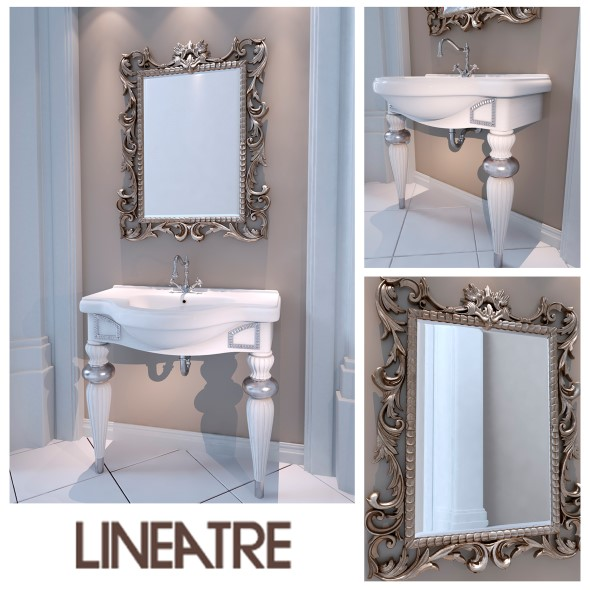 Washbasin Lineatre Londra Loccato Patinato - 3DOcean Item for Sale