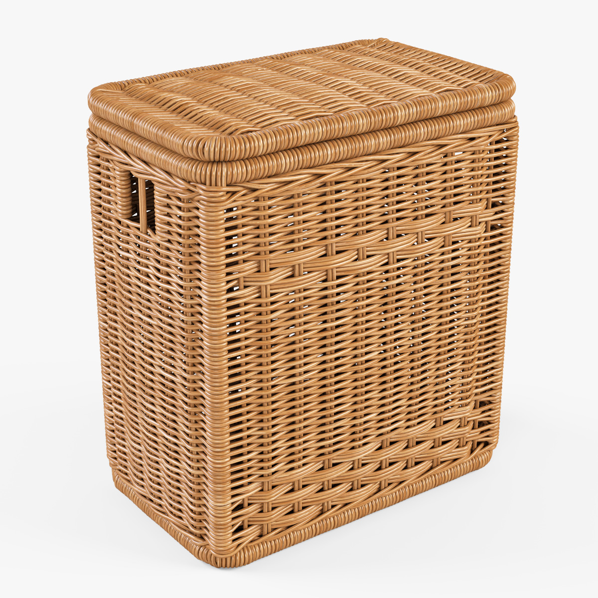 Wicker laundry hamper 08 natural color by markelos 3docean - Cane laundry hamper ...