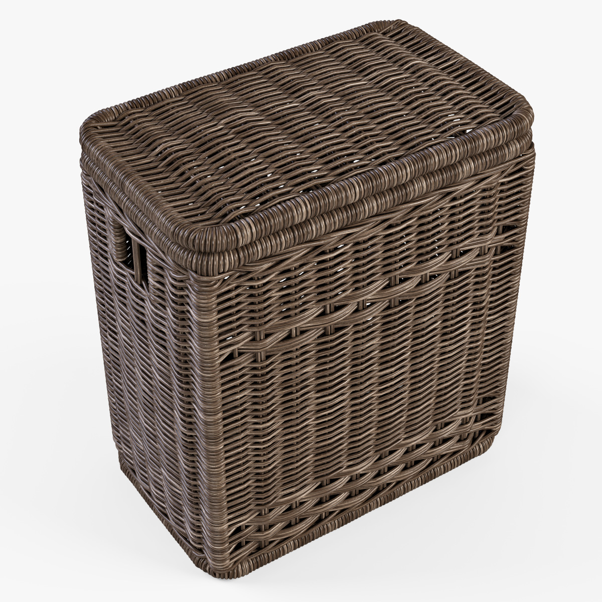 Wicker laundry hamper 08 brown color by markelos 3docean - Rattan laundry hamper ...