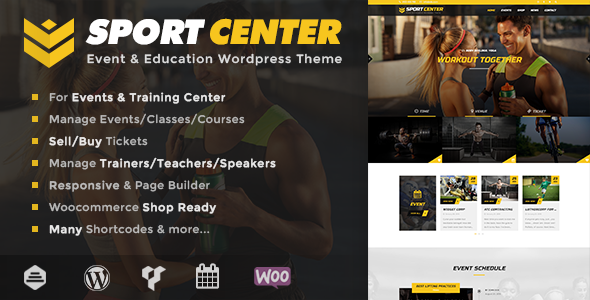 Sport Center - Events & Education WordPress Theme