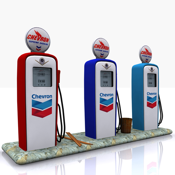 Gas Pump Chevron - 3DOcean Item for Sale