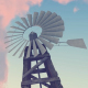 Old Windmill - Sunset - Farm - VideoHive Item for Sale