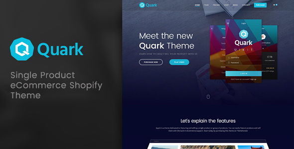 Image of Quark - Single Product Shopify Theme