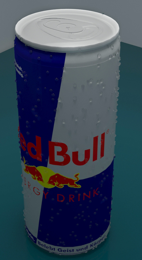 REDBULL CAN - 3DOcean Item for Sale