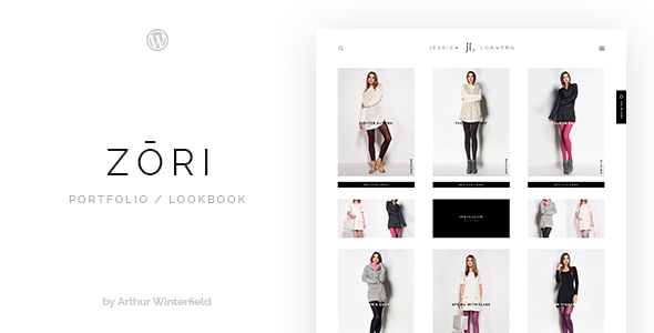 Zori: A Portfolio/Lookbook WordPress Theme