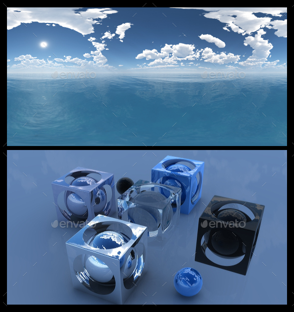 Ocean Blue Clouds 12 - HDRI - 3DOcean Item for Sale