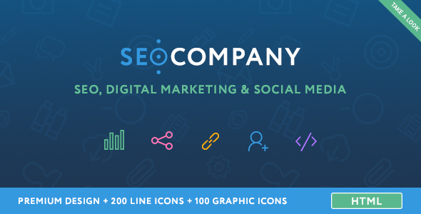 Seo Company - Seo, Digital Marketing, Social Media HTML Template