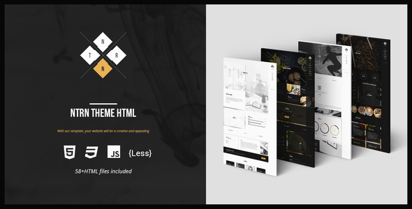 NTRN – Creative and Responsive HTML Template