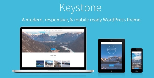 Keystone – A modern, responsive, & mobile ready WordPress theme.