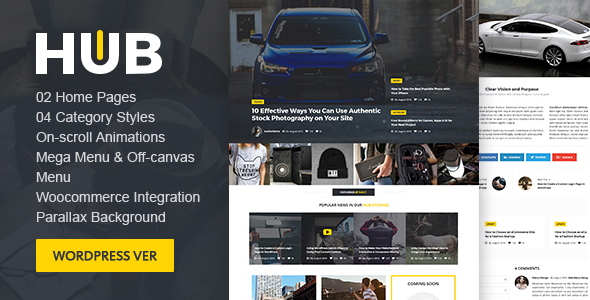 Hub Magazine WordPress theme - Blog / Magazine WordPress