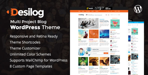 Desilog – Blog and File Resource WordPress Theme
