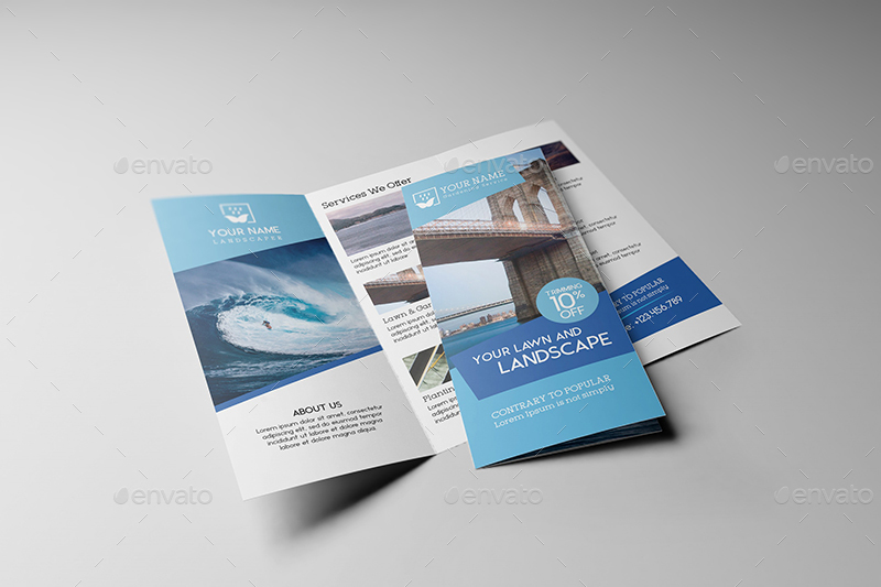 Us Letter | Tri-Fold Brochure Mock-Up By Wutip | Graphicriver