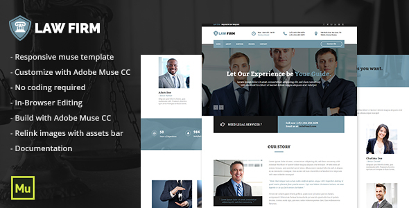 Law Firm - Responsive Law Template - Corporate Muse Templates