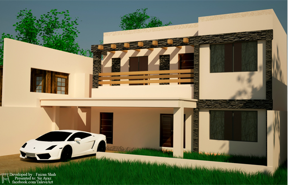 Exterior 3D Design - 3DOcean Item for Sale