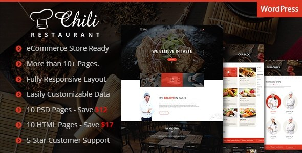 Chili - Multi-Purpose Restaurant WordPress Theme